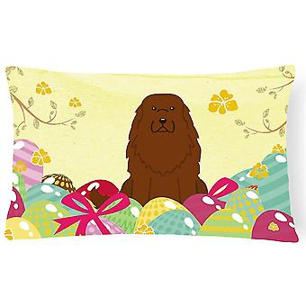 Pillows easter eggs caucasian shepherd dog canvas fabric decorative pillow