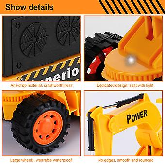 5ch 4 Wheels Rc Excavator Simulation Tractors Engineering Vehicles Digger