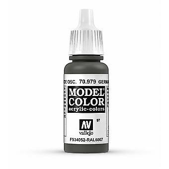 Vallejo Model Color 17ml Acrylic Paint - 979 German Cam Dark Green