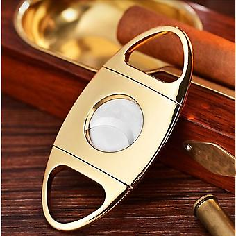 Cigar Clippers  Smooth And Sharp Golden Stainless Steel Portable Cigar Clippers|Cigar Accessories