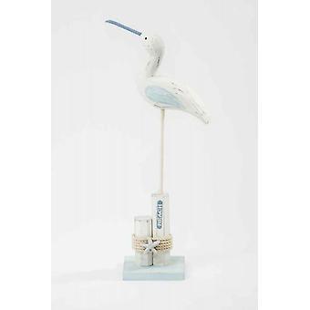 Oiseau en bois mer sur la plage poste décoration avec corde et étoile de mer