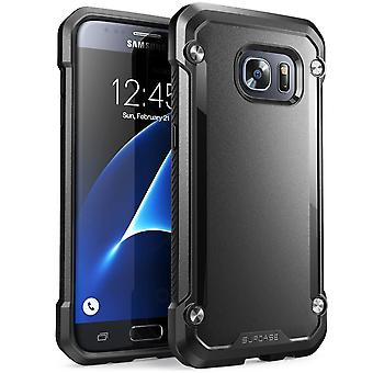 Galaxy S8 Plus Case, SUPCASE Unicorn Beetle Series Premium Hybrid Protective Clear Case-Black/Black