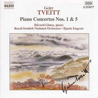 G. Tveitt - Tveitt: Piano Concertos nr 1 & 5 [CD] USA import