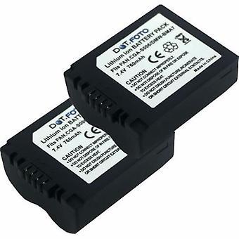 2 x Dot.Foto Panasonic CGR-S006E, nowy akumulator DMW-BMA7 - 7.4V / 760mAh