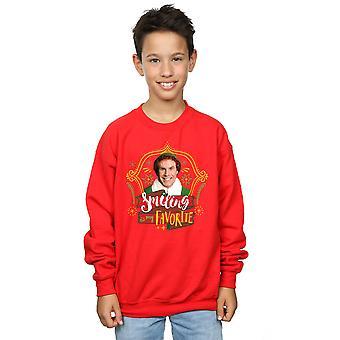 Elf Boys Buddy Smiling Sweatshirt