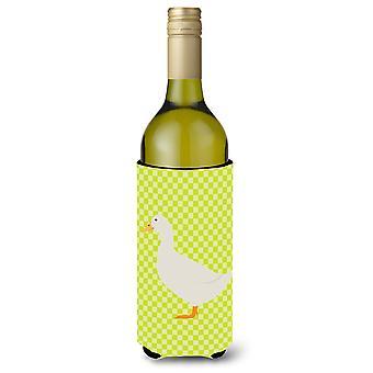 American Pekin Duck Green Wine Bottle Beverge Insulator Hugger