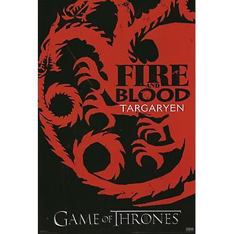 Game of Thrones - Targaryen - Siegel-Poster-Plakat-Druck
