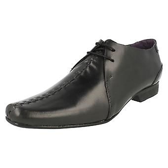 Mens PSL Smart Formal Lace Up Shoes RED01B