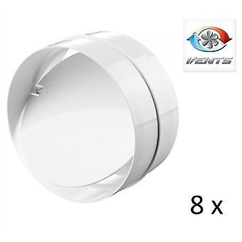 Backdraft Shutter / Coupler - For Ducting - (8 Pack) - Fans - 100mm 4'' Round PVC - Vent - Back Draft
