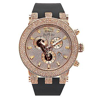 Joe Rodeo diamond men's watch - BROADWAY rose gold 5 ctw