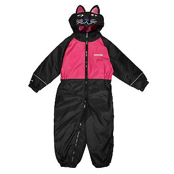Regatta Girls Mudplay Baby Waterproof Breathable Rainsuit Pink
