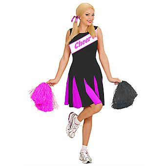 Cheerleader - Svart/Rosa dräkt (Dress)