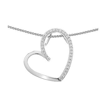 Orphelia Silver 925 Chain With Pendant Heart Zirconium  ZH-7021