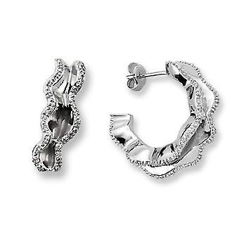 Orphelia Silver 925 Earring Wave With Zirconium  ZO-5792