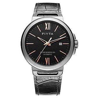 FIYTA Solo Automatic Black Leather Black Dial Sapphire GA852000.BBB Watch