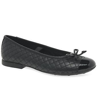Geox Junior Plie Girls Ballerina Shoes