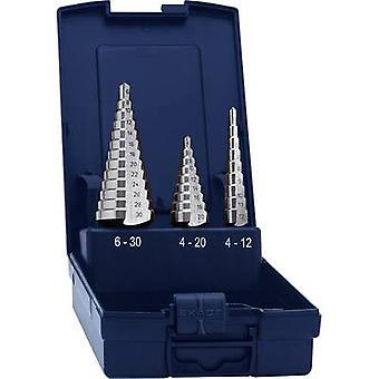 Eventus 15332 HSS Step drill bit set 3-piece 4 - 12 mm, 4 - 20 mm, 4 - 30 mm 1 Set