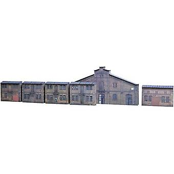 Auhagen 42506 H0 Relief cardboard kit with 6 industrial frontages