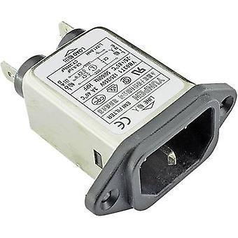 Yunpen YB03T1 Line filter + IEC socket 250 V AC 3 A 1.8 mH (L x W x H) 57 x 25.25 x 52.3 mm 1 pc(s)