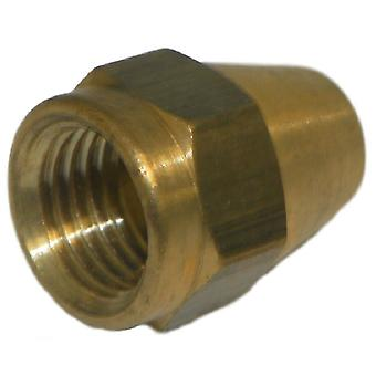 Big A Service Line 3-14104 Brass Long Nut 1/4