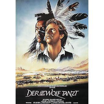 Danse avec les loups affiche film allemand affiche 84 x 59 cm