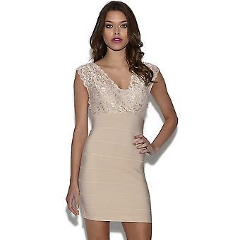 Vleiend Lace Top Bandage jurk