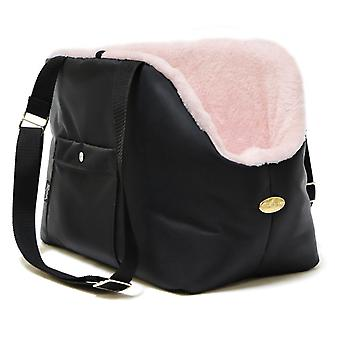 Rainy Bear Black and Pink Dog Carrier