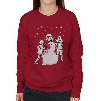 Original Stormtrooper Snowman Trooper Christmas Women's Sweatshirt