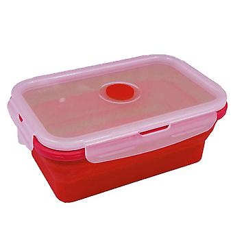 350ML Red Silicone Collapsible Food Storage Container Lunch Box TRIXES