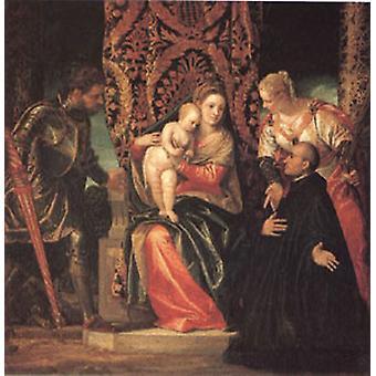 Die Jungfrau und das Kind mit den Heiligen Justin und Ge, VERONESE Paolo Caliari