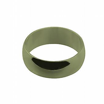 9ct oro liso 8mm D formado Z de tamaño de anillo de boda