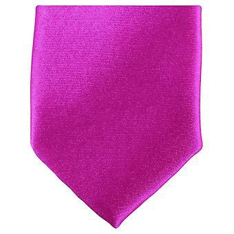 Knightsbridge cravatte Slim poliestere cravatta - Hot Pink
