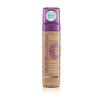 Sunkissed Self Tan Mousse 200ml with Aloe Vera - Dark (Over 95% Natural Ingredients / 0% Parabens, Sulphates, Phthalates, Silicones)