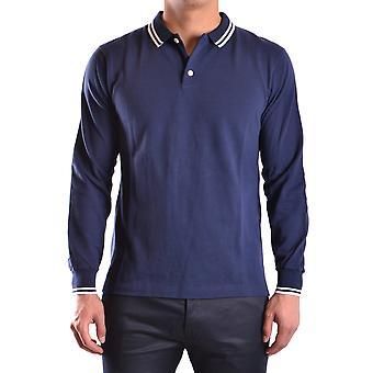 Marc Jacobs Ezbc062037 Uomini's Blue Cotton Polo Camicia