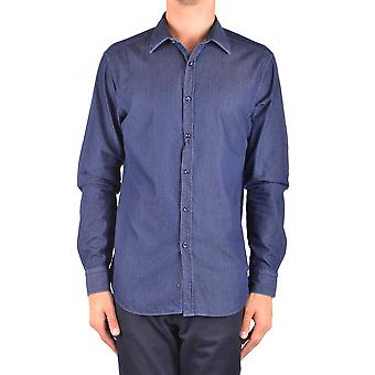 Jacob Cohen Ezbc054320 Männer's blaue Baumwolle Shirt
