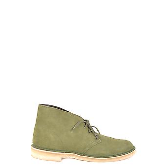 Clarks Ezbc095037 Men's Green Suede Ankle Boots