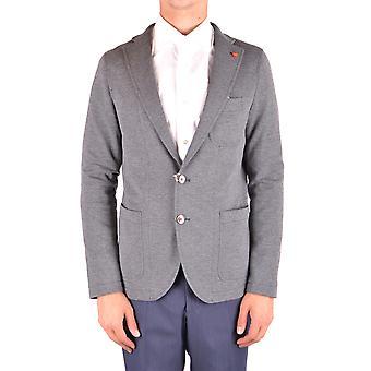 Manuel Ritz Ezbc128035 Men's Grey Cotton Blazer