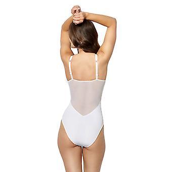 Sans Complexe 203904-GCC Women's Byzance White Floral Lace Bodysuit Body