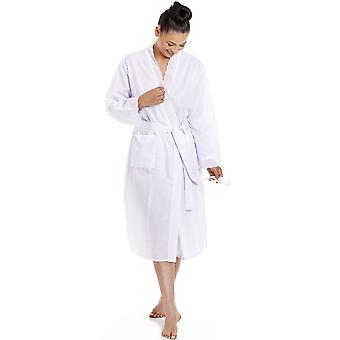 Camille Camille Womens Lightweight Dot Print Dressing Gowns