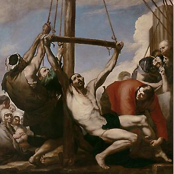Martírio de São Filipe, José de Ribera, 50x50cm