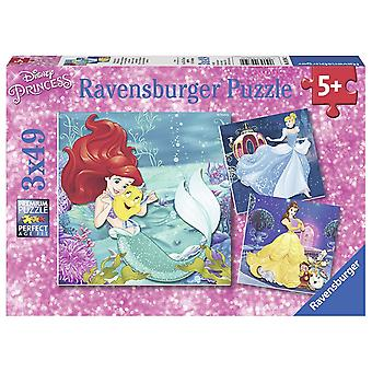 Ravensburger Disney Princess, Princess Adventure 3x 49pc quebra-cabeças