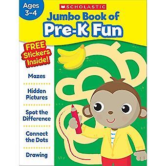 Jumbo Book of Pre-K Fun Workbook by Scholastic Teaching Resources - 9