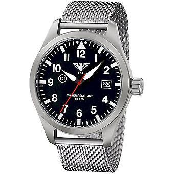 KHS heren horloge LUCHTGELEIDER staal KHS. AIRS.MS
