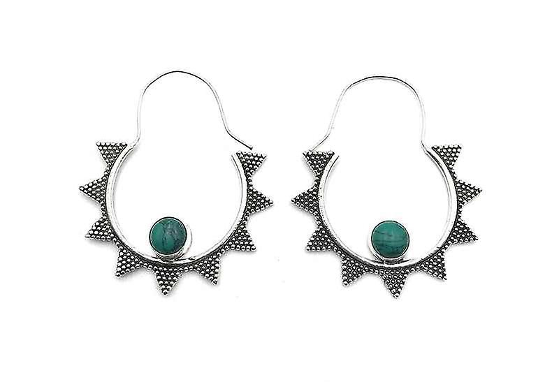 Avery and May Handmade Starry Night Hoop Earrings for Women