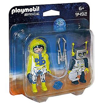 Playmobil 9492 Space Astronaut y Robot Duo Pack