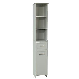 SoBuy Tall Bathroom Storage Cabinet with 3 Shelves 1 Drawer 1 Cabinet£¬BZR09-HG
