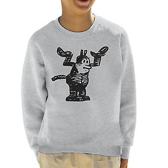 Krazy Kat Hands Up Kid's Sweatshirt
