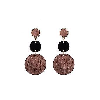 Jewelcity Sunkissed Womens/Ladies Multi Wood Disc Earrings