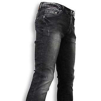 Jeans - Slim Fit Washed Look Jeans - Grey