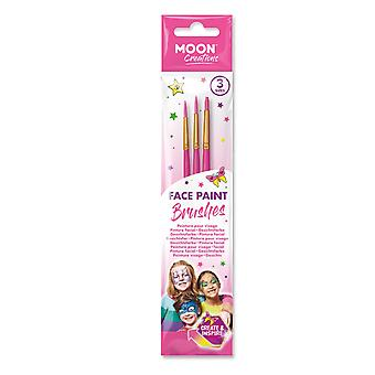 Moon Creations - Face Paint Brush Set (Pink)